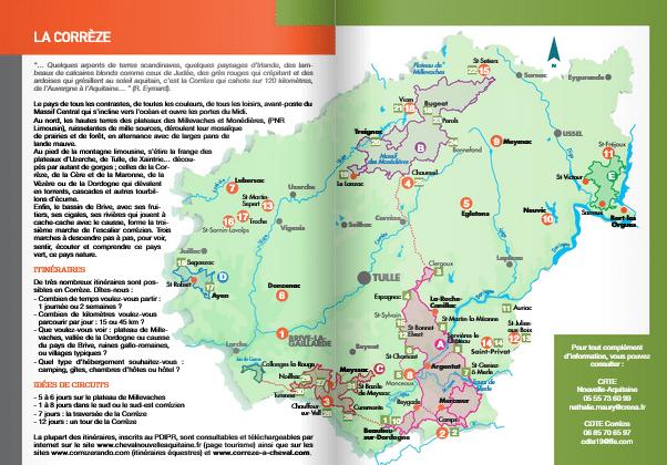 extrait brochure Itineraires equestres Corrèze