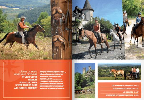 menu brochure Rando cheval et sejours equestres Corrèze